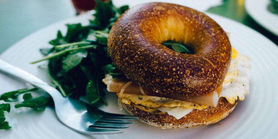food-breakfast-fork-bagel